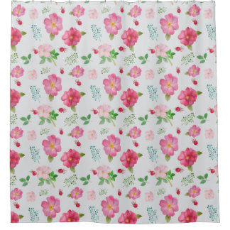 Rose Hip Garden Pattern Shower Curtain
