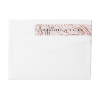 Rose Marble / Wrap Return Address Wraparound Return Address Label