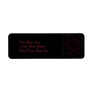 Rose Return Address Labels