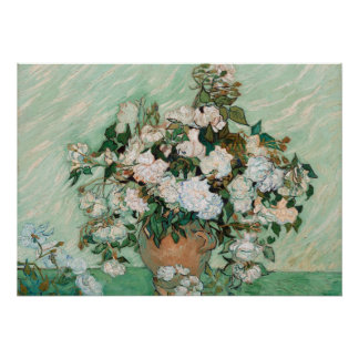 Roses, 1890 (oil on canvas) poster
