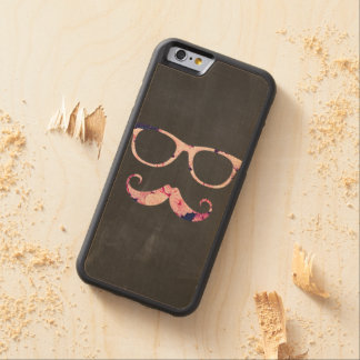 Roses and mustache maple iPhone 6 bumper case