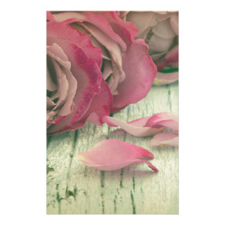 roses background stationery design