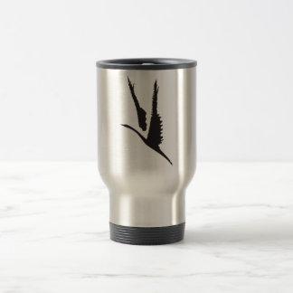 Rough Bird in Flight Stainless Steel Travel Mug