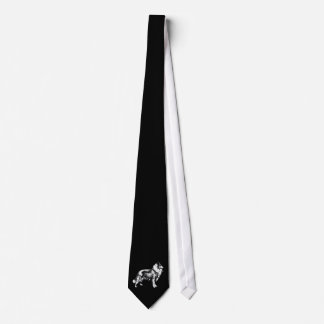 Rough Collie dog beautiful illustration mens tie