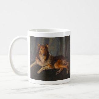 rough collie mug