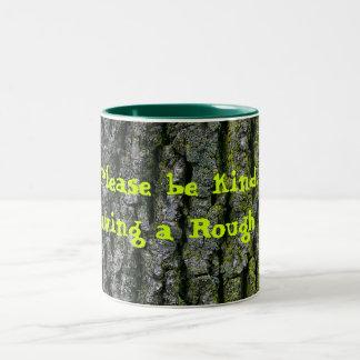Rough Day Coffee Cup Two-Tone Mug