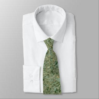 Rough Neutral Green Rock Texture Tie