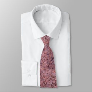 Rough Neutral Pink Rock Texture Tie