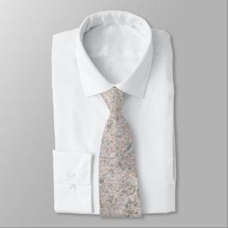 Rough Neutral Rock Texture Tie