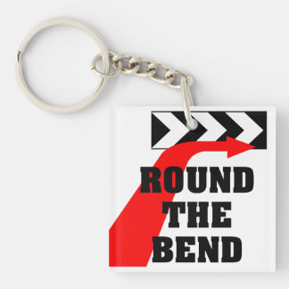 Round The Bend Single-Sided Square Acrylic Key Ring