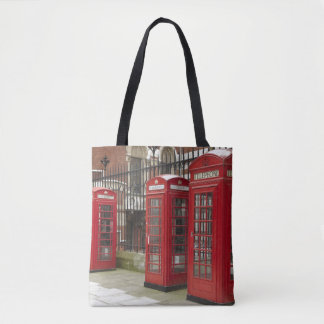 Row of phone boxes at the back of the Royal Tote Bag
