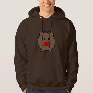 Roy the Christmas Pig Hooded Sweatshirt