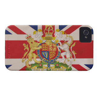 Royal Crest on Union Jack iPhone 4 Cover