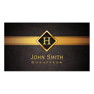 Royal Monogram Gold Label Chauffeur Business Card