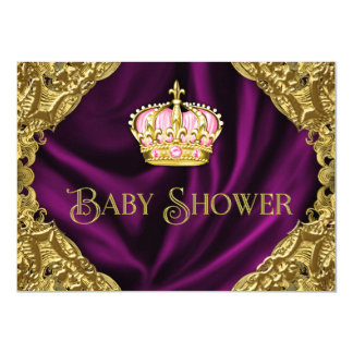 Royal Princess Baby Shower 11 Cm X 16 Cm Invitation Card