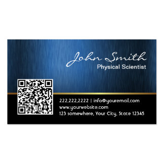 Royal QR code Physical Scientist Business Card