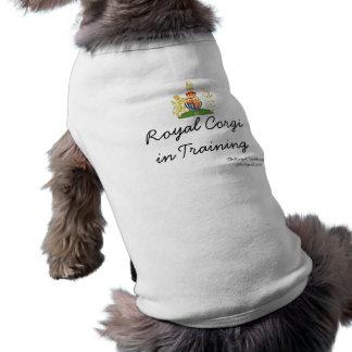 "Royal Wedding ""Royal Corgi in Training"" dog tee"