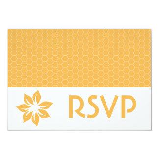 RSVP Beeswax Honeycomb Response Card 9 Cm X 13 Cm Invitation Card