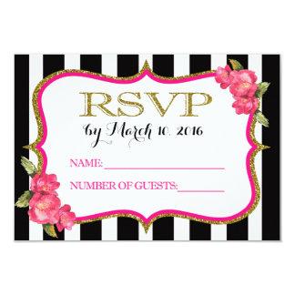 RSVP Card to Match Pink Bridal Shower Invitation