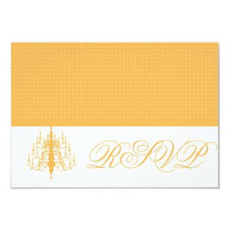 RSVP Chic Chandelier Beeswax Honeycomb Response Ca 9 Cm X 13 Cm Invitation Card
