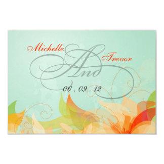RSVP - Fancy Floral Wedding Response Cards 9 Cm X 13 Cm Invitation Card