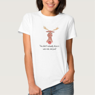 Rudolph the Red Nosed Reindeer Ladies T-Shirt