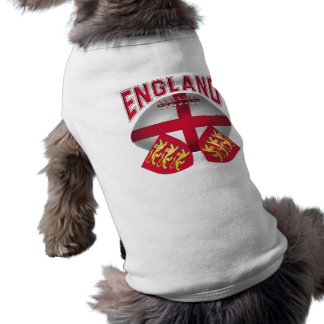 Rugby Ball Flag of England Sleeveless Dog Shirt