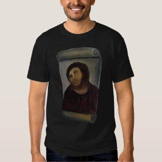 ruined jesus painting fresco - (latin: ecce homo) t shirts