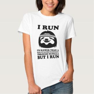 Run Like A Sloth Tee Shirts