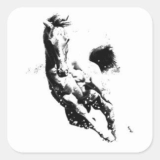 Running Horse Square Sticker