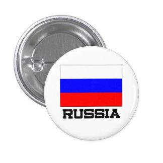Russia Flag 3 Cm Round Badge