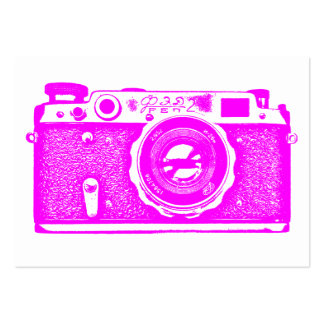 Russian Camera - Magenta on White Pack Of Chubby Business Cards