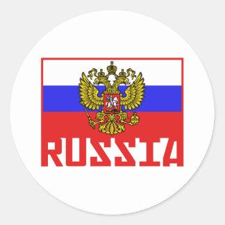 Russian Flag Round Sticker