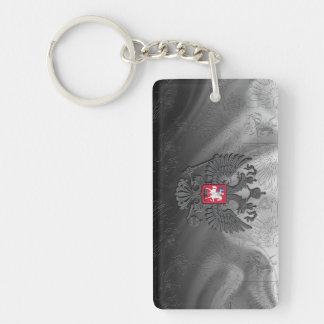 Russian symbol double eagle Double-Sided rectangular acrylic key ring