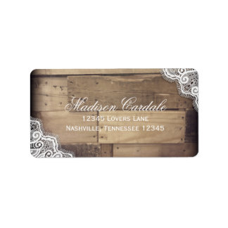 Rustic Country and Lace Wedding Address Labels