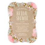 Rustic Flowers   Bridal Shower Invitation