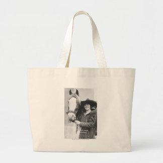 Ruth Roach and her horse. Jumbo Tote Bag