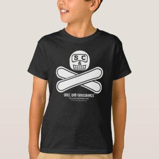 S&C Snowboarding Kids on Dark Apparel Tshirt