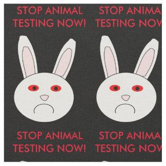Sad Lab Rabbit Stop Animal Testing Craft Fabric
