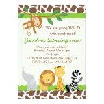Safari Boy 1st Birthday Party Invitation