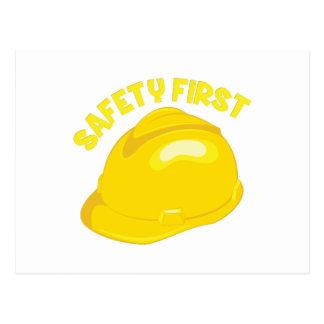 Safety First Postcard
