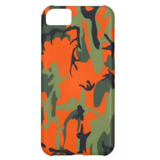 Safety Orange and Green Camo iPhone 5C Case