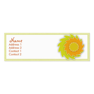 Safflower Profile Card Pack Of Skinny Business Cards