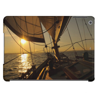 Sailboat Deck, Heading Into Setting Sun Case For iPad Air