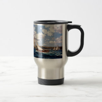 Sailing in a rough sea stainless steel travel mug