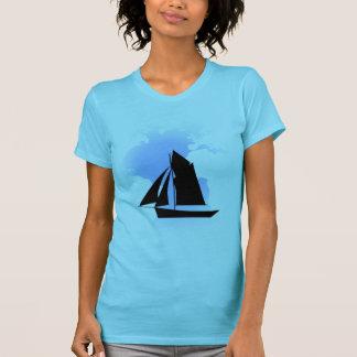 Sailing the World Women's Aqua Fine Jersey Shirts