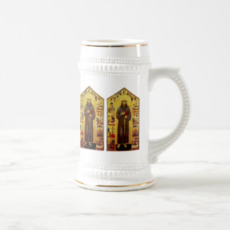 Saint Francis of Assisi Medieval Christian Icon Beer Steins
