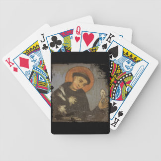 Saint Francis with White Lilies Bicycle Poker Deck