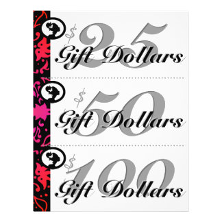 Salon Flyer Spa Gift Certificates Woman Colorful