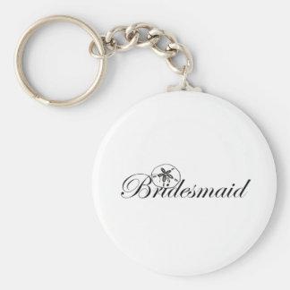 Sand Dollar Bridesmaid Basic Round Button Key Ring